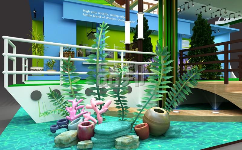加勒比游轮展台制作